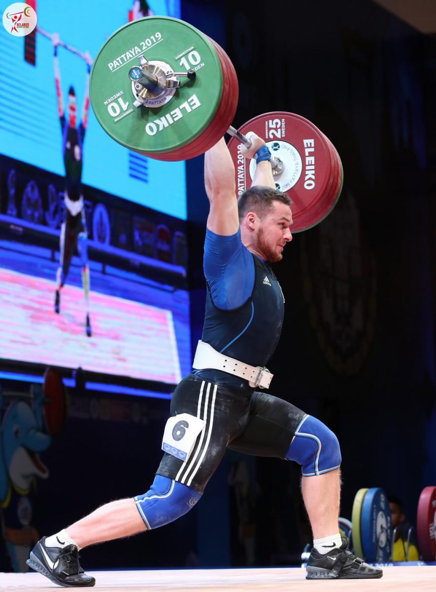 Пётр Асаёнок - толчок 195 кг